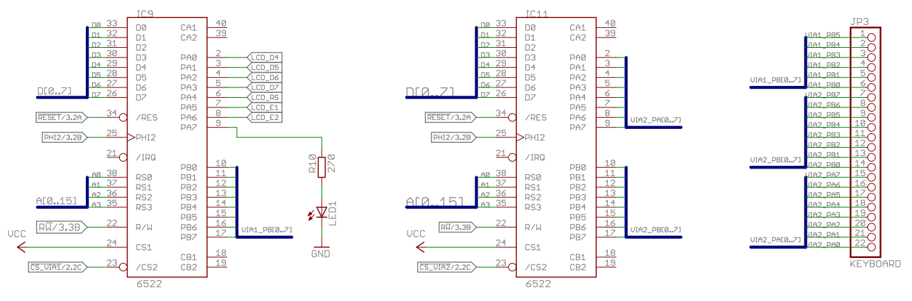 Homecomputer 6502 V10 Keyboard Schematic