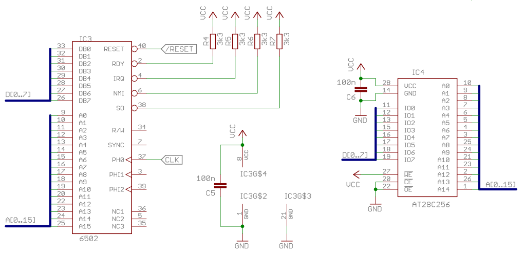 6502 Home Computer - EEPROM and a first program