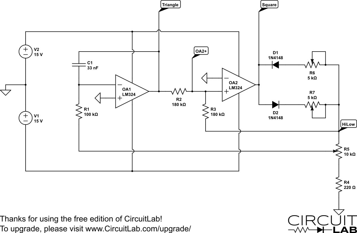 Circuitlab Opamp Noninverting Amplifier Circuit Diagram Triangle Wiring Library Analog Computer Trianglegen Circuitlabs