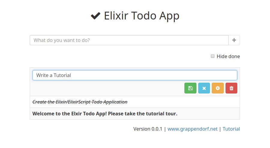 Elixir Todo App | grappendorf net